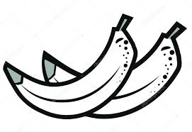 Banana black and white clipart — by tamaravector
