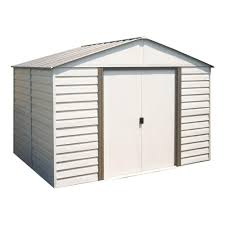 Arrow Shed Assembly Tips by Arrow Milford 10 Ft X 8 Ft Vinyl Coated Steel Storage Building