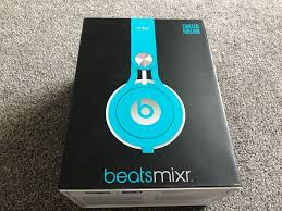 BEATS MIXR OVERHEAD HEADPHONES LIGHT BLUE LIKE NEW