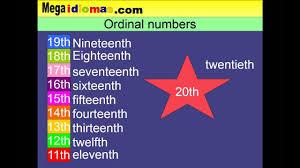 Números Ordinales En Ingles Del 1 Al 16 U2026 Teaching Numeru2026