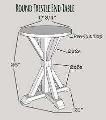 diy instructions for benchright round end tables crafty