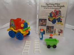 100 Fisher Price Fire Truck Ride On Vintage 1983 Little People 657 Crazy Clown Etsy