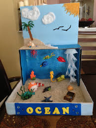 Ocean diorama for school project Idea for Henry 2nd grade project
