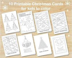 Christmas Cards Coloring Sheets Festive Kids Art Craft Activities Free Downloads Colouring