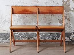Vintage Twin Folding Bench By James Bennet