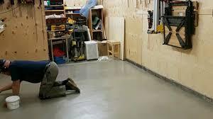 Valspar Garage Floor Coating Kit Instructions by Garage Floor Second Coating Youtube