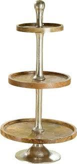 gilde dekoetagere 3er etagère xl 1 stück 3 stufig höhe 100 cm rund aus metall und holz wohnzimmer kaufen otto