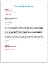 A Business Letter Example