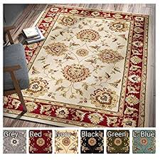 Sultan Sarouk Ivory Oriental Area Rug Persian Floral Formal Traditional 7 X 9