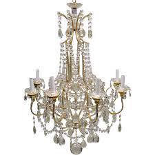 Vintage Beaded Italian Crystal Chandelier