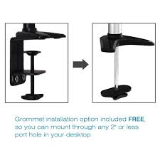 Lx Desk Mount Lcd Arm Amazon by Amazon Com Sit Stand Desk Mount Monitor Arm Adjustable Hydraulic
