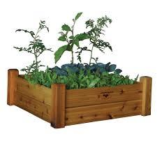 gronomics 48 in x 48 in x 13 in modular raised garden bed two