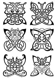 Download Celtic Tattoos Of Black Butterflies Stock Vector