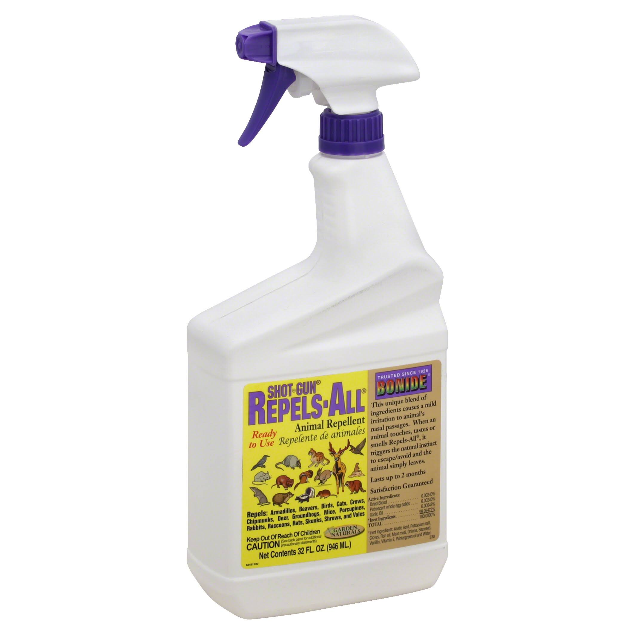 Bonide 238 Shot-Gun Repels-All Animal Repellent - 1qt