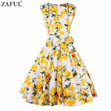 online get cheap yellow plus size rockabilly dresses aliexpress