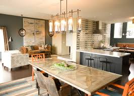 Dining Room Bar Ideas Transitional With Kitchen Peninsula Pendant Lights Stainless Steel