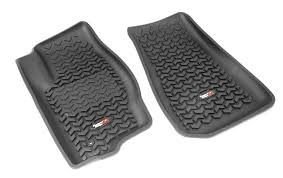 Jeep Commander Floor Mats Oem by Amazon Com Rugged Ridge All Terrain 12920 30 Black Front Row