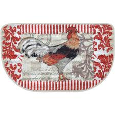 Fabulous Impressive Red Hen Cushioned Kitchen Mats Decorative Pattern For