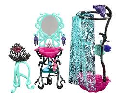 Monster High Bedroom Set by Amazon Com Monster High Lagoona Blue Shower Playset Toys U0026 Games