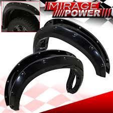 100 Poly Truck Fenders Pocket Riveted ABS Side Wheel Fender Flare For 0713 Tundra