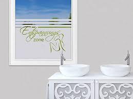 grazdesign fensterfolie badezimmer sichtschutzfolie entspannungszone milchglasfolie duschtür klebefolie fenster dusche 100x57cm