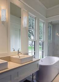 contemporary chic bathroom wall sconce lighting