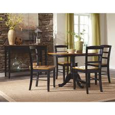 International Concepts Madrid Black And Cherry Wood Dining Chair Set Of 2