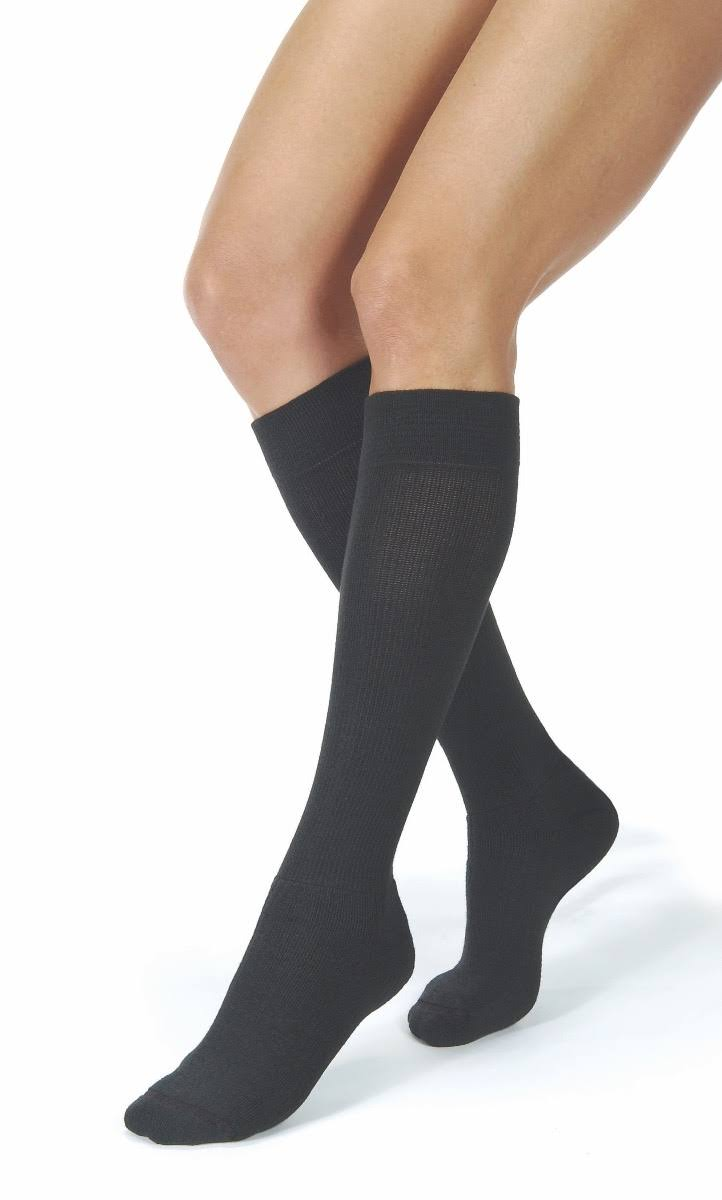 Jobst ActiveWear Knee-High Firm Compression Socks - Large, Black