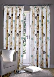 Primitive Living Room Curtains by Rosa Natural Brown Ready Made Pencil Pleat Curtain Curtains And