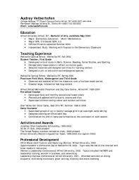 Resume Example For Pre Kindergarten Teacher Assistant