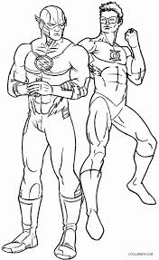 Green Lantern And Flash Coloring Pages