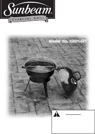 Brinkmann Electric Patio Grill Manual by Sunbeam Charcoal Grill Nbc1401 User Guide Manualsonline Com