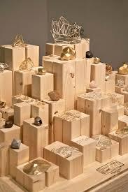 Various Height Wood Block Plinths Jewellery Display