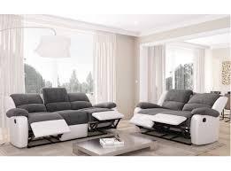 canapé de relaxation 2 places ensemble de canapés relaxation 3 places et 2 places microfibre