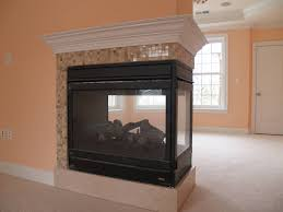 Dining Room Three Way Fireplace Ideas 2 Sided Gas Logs For Simple Double Electric