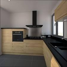cuisine bois et cuisine bois idee cuisine bois et noir