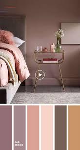 erdfarbene farben für schlafzimmer lila grau