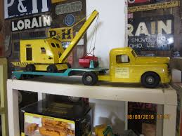 Nice Yellow Structo Toy Truck,green Trailer & Yellow Steam Shovel ... Vintage 1950s Structo Cattle Farms Inc Toy Truck And Trailer 1950s Structo Toys Steel Army Truck Vintage Metal Toy Wrecker Truck Parts Toys Buddy L Tow 1940s Pinterest Very Early Vintage Pressed Dump 4900 Childrens Books Flash Cards Colctible Steel Diecast Cadillac No 7375 Hp Elrado Brougham Concept Lloyd Ralston Nice Yellow Truckgreen Trailer Yellow Steam Shovel Barrel Windup Red Blue C