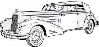 1936 Cadillac Classic Old Car Coloring Pages