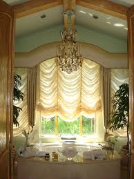 Design Bathroom Window Treatments by Similar To A Balloon Shade This Australian Shade Falls Elegantly