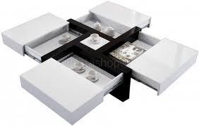 impressionnant table bar blanc laque avec table haute collection