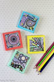 Turn Adult Coloring Book Pages Into Magnets
