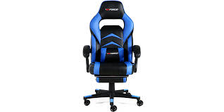 Reclining Gaming Chair With Footrest by Turbo Gaming Chair With Recline And Footrest In Black Blue
