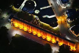 bad rothenfelde bei nacht oben nachtluftbild gelände