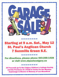 Our Garage Sale on May 12 Will Support Local Outreach and the