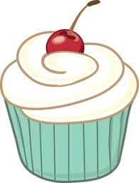 Cupcake Clipart Image Iced Cupcake