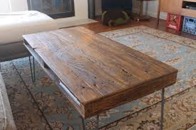 Coffee Tables Pallet Reclaimed Table With Iron Leg For Rustic Interior Accent Outstanding Living Room