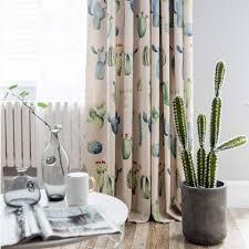 landhaus vorhang mit kaktus muster aus polyesterfaser für
