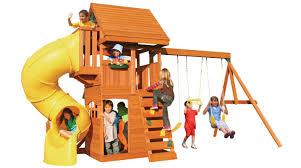 Wayfair Play Kitchen Sets by Cedar Summit Grandview Deluxe Wooden Swing Set U0026 Reviews Wayfair