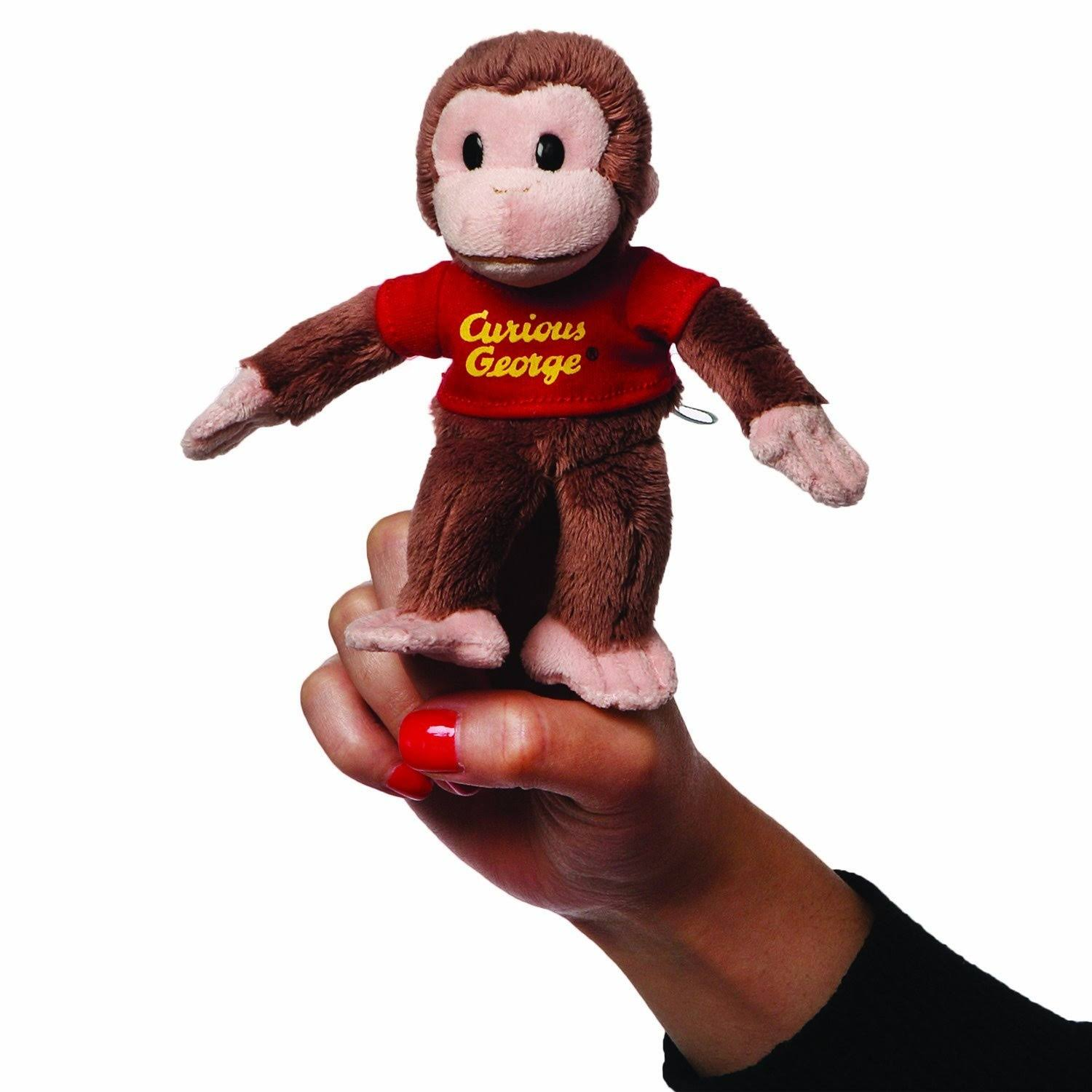 Gund Curious George Finger Puppet Stuffed Animal